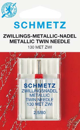 Schmetz Twin Metallic Sewing Machine Needles