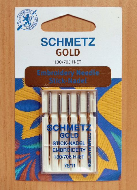 Schmetz gold embroidery sewing machine needles