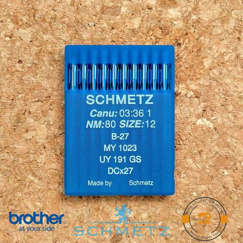 Schmetz Industrial overlock Industrial Needles B-27, MY 1023, UY 191 GS, DC-27