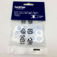 """Bobbins (10 pcs.) - 11.5mm (1/2"""") in height. It's suitable for use with our L14, JS1700, GS2510, GS2700, NX200QE, NX400, NX600, VQ3000, NS10, NS30, NV200, NV400, NV600, QC2000, VM6200D, NV1e, NV1250D and NV950."""
