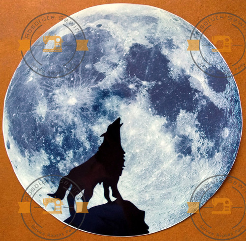 Glow in the dark Wolf shadow on the Moon wall sticker