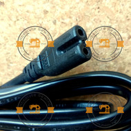 Power Cord for Electronic Sewing Machines - 2pin Fig 8 Mains Plug to IEC C7 Female