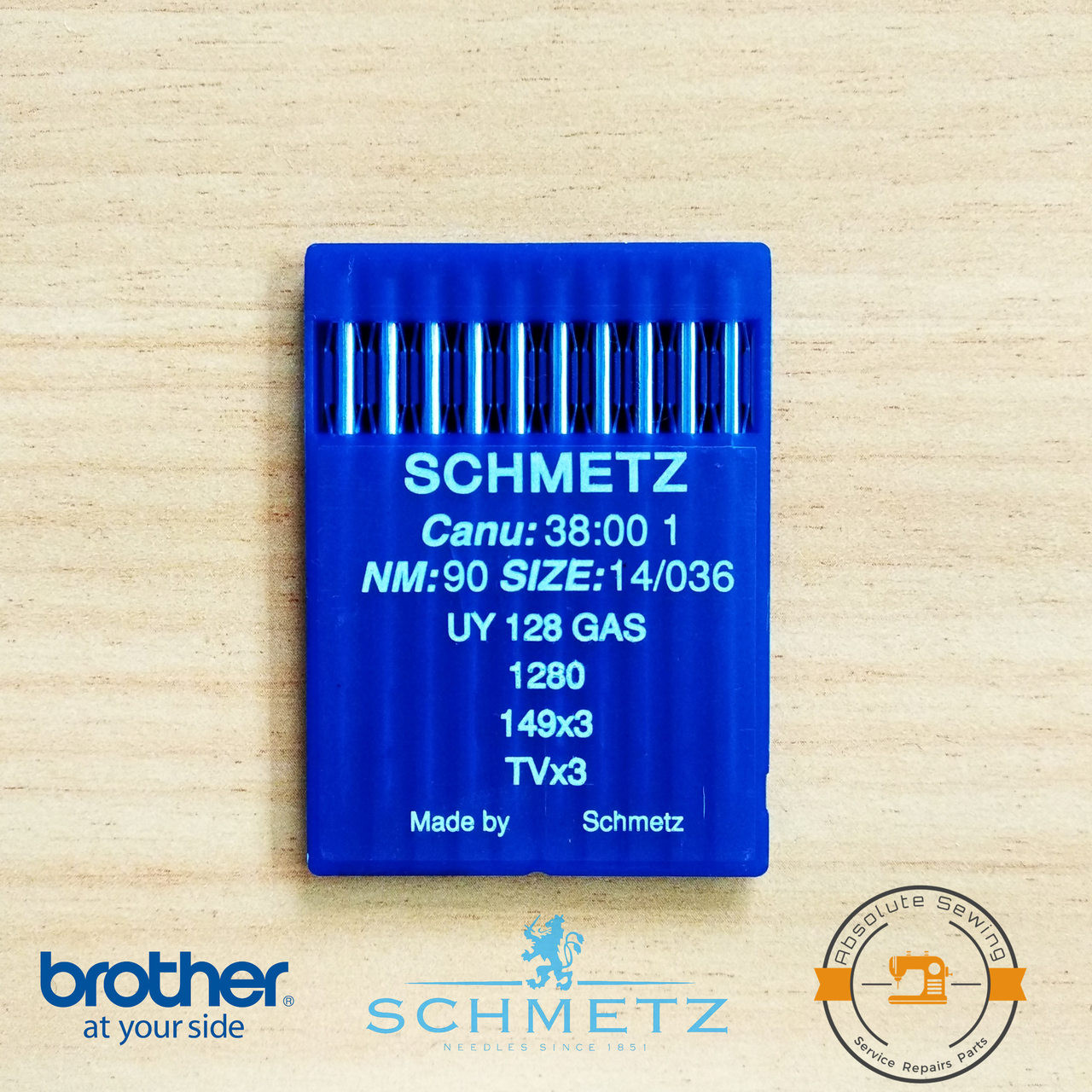 SCHMETZ TVX3 SES UY128 GAS SES NM:90 SIZE14//036 INDUSTRIAL SEWING MACHINE NEEDLE