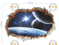 Vinyl Stickers Outer space solar system wall sticker