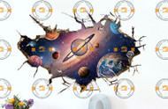 3D Space Wall Sticker - 60 x 90cm