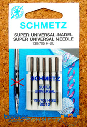 Schmetz Super Universal sewing machine Needles (130/705 H-SU) 80/12