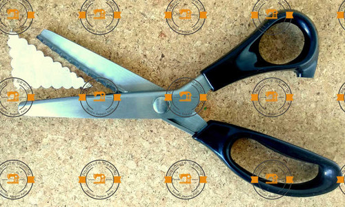Dressmaking Fabric Pinking Scissor - Half Round Shape