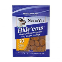 Nutri-Vet Hide'ems Sweet Potato & Beef pill wrap 3.2 oz