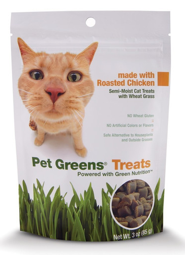 Bell Rock Growers Pet Greens Semi Moist Cat Treat Chicken 3oz
