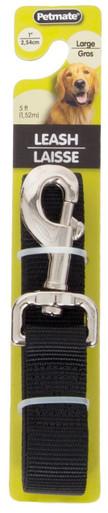 Aspen Pet Core Nylon Lead Black 1in X 5ft