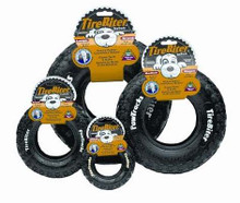"Tire Biter Paw Track Dog Toy in Black Size: Medium (8"" H)"