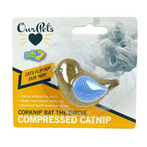 OurPets Corknip All-Natural Compressed Catnip, Bat The Birdie