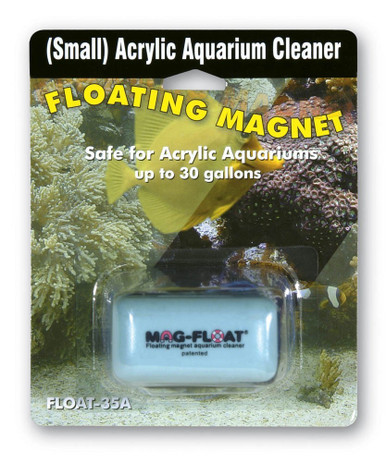 Mag-Float Floating Magnet Acrylic Aquarium Cleaner Small 30gal