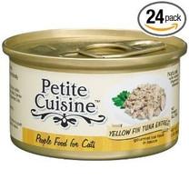 Petite Cuisine Yellow Fin Tuna Entree Canned Cat Food 4ea 3oz