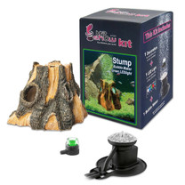 Hydor H2shOw Stump Kit with Bubble Maker and Green LED Spot Light