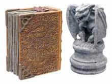 Hydor H2shOw Magic World Gargoyle & Book Resin Ornament Foreground Decor