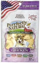 Loving Pets Purrfectly Natural Freeze Dried Chicken Treats for Cats, 0.6-Ounce