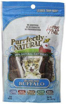 Loving Pets Purrfectly Natural Buffalo Meat Strips for Cats, 2-Ounce