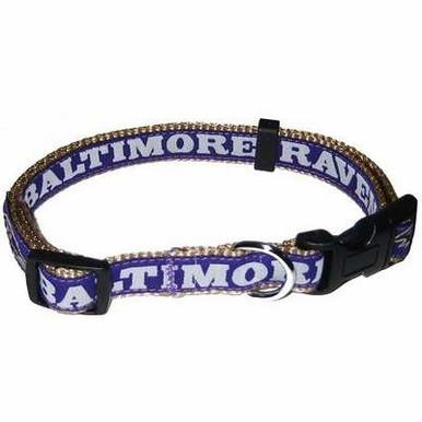 Baltimore Ravens NFL Dog Collar - Large
