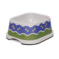 Petmate  Bone Parade Bowl White with Blue Pattern 5cup