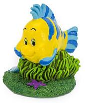 """Penn Plax The Little Mermaid Flounder Mini Aquarium Ornament, 1.5"""" L X 3"""" W X 3.75"""" H"""
