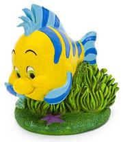 "Penn Plax The Little Mermaid Flounder Aquarium Ornament, 2.6"" L X 2.75"" W X 3.25"" H"