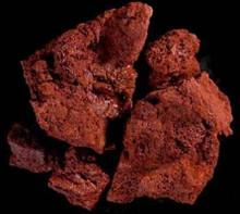 Carib Sea ACS00335 Lava Rocks for Aquarium, Red, 6 Per Case