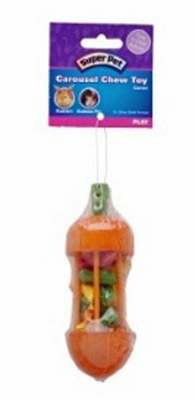 Super Pet Carousel Chew Toy Carrot, Large