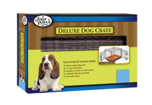 Four Paws Double Door Deluxe Crate- Divider Panel Included 36 x 22 x 25