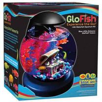 Tetra GloFish Waterfall Globe Aquarium 1.8gal