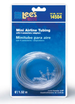 Lee's Mini Airline Tubing 6FT w 4 Connectors