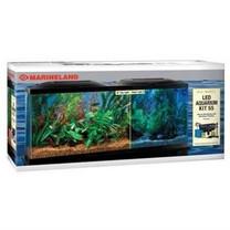 Marineland (Aquaria) AMLPFK55B Biowheel Aquarium Kit with LED Light, 55-Gallon