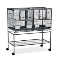 Prevue Hampton Deluxe Divided Flight Breeding Cage System w/ Stand