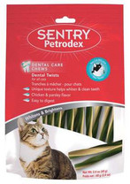 SENTRY Petrodex VS Dental Twist Treats Cat 20ct