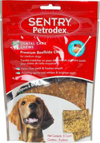 Petrodex Dental Care Chews Premium Beefhide Chips For Dogs Medium Dogs (5 oz)