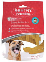 Petrodex Dental Care Chews Premium Beefhide Chips For Dogs Large Dogs (5 oz)