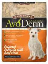 Breeder's Choice AvoDerm Oven-Baked Sm Bites Orig Beef Meal All Life Stage 15lb