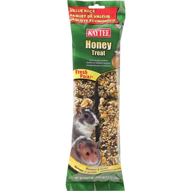 Kaytee Forti-Diet Hamster Gerbil Honey Stick Value 8oz