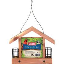 Kaytee Cedar Seed & Suet Wild Bird Feeder