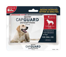 SENTRY CapGuard Flea Tablets Dog Over 25lb 6ct