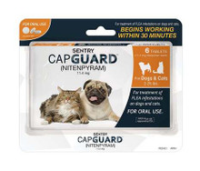 SENTRY CapGuard Flea Tablets Dog&Cat 2-25lb 6ct (dog set)