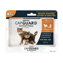 Sentry 6 Count CapGuard Flea Tablets for 2 to 25-Pound Dogs and Cats