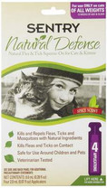 Sentry 4 Count Natural Defense Flea and Tick Squeeze-On for Cats