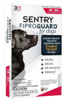 SENTRY FiproGuard Dog Flea & Tick Squeeze-On 45-88lb 3ct