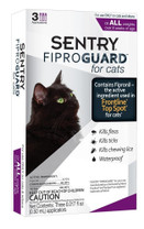 SENTRY FiproGuard Cat Flea & Tick Squeeze-On 3ct