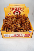 Smokehouse Bacon Skin Twists Sml Bulk Display Box 150Ct (no s w no upc)