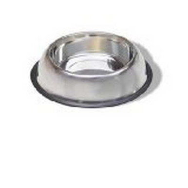 Stainless Steel Non Tip Dish W/rubber Ring 16oz