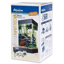 All Glass Aquarium AAG17004 15column Black Deluxe Kit