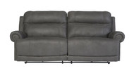 Ashley Austere Gray Reclining Power Sofa/Couch