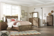 Ashley Blaneville Brown 5 Pc. Queen Storage Bed, Dresser, Mirror & Nightstand